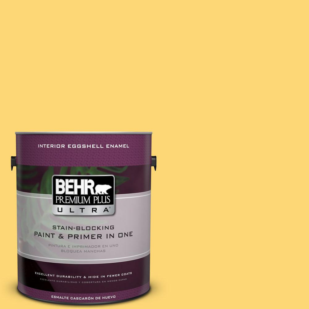 BEHR Premium Plus Ultra 1-gal. #PPU6-13 Hawaiian Pineapple Eggshell Enamel Interior Paint