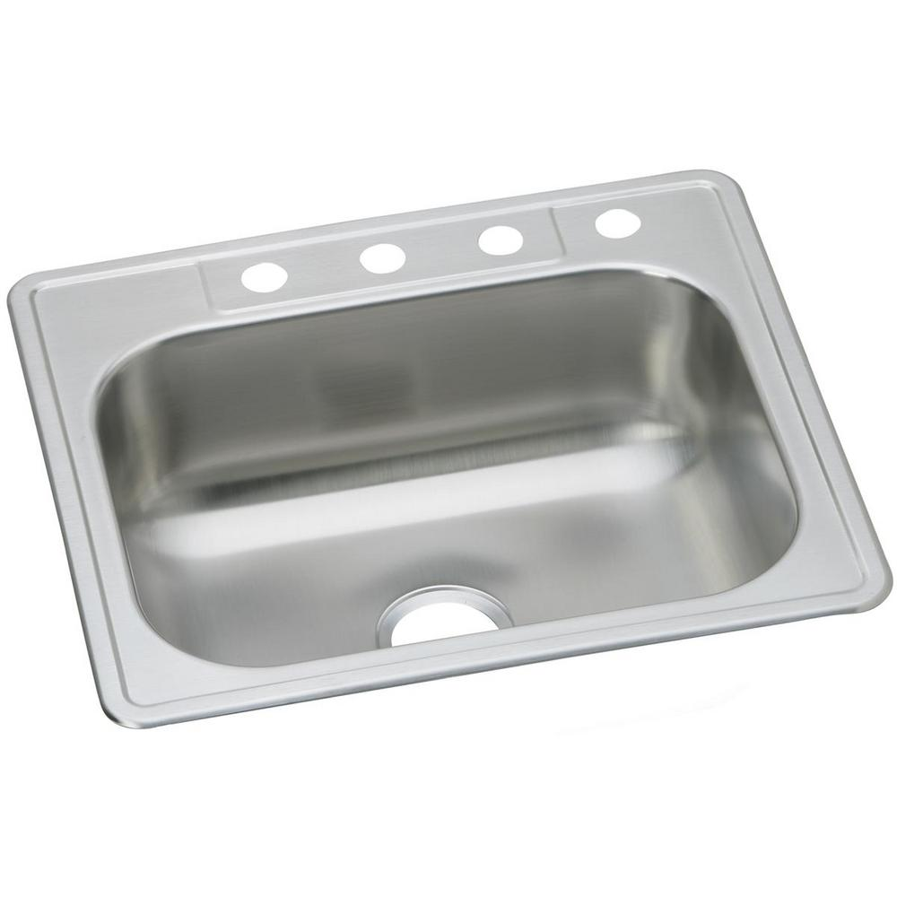 Elkay Dayton Drop-in Stainless Steel 25 in. 3-Hole Single Bowl Kitchen Sink