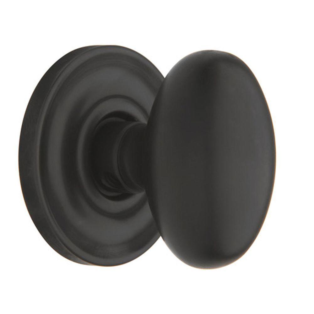 Baldwin Egg Full-Dummy Oil Rubbed Bronze Knob-DISCONTINUED
