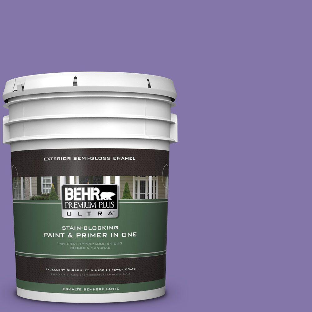 5-gal. #640B-6 Grape Parfait Semi-Gloss Enamel Exterior Paint