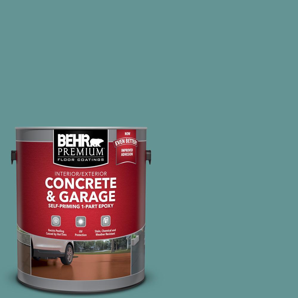 1 gal. #PFC-48 Aqua Marble Self-Priming 1-Part Epoxy Satin Interior/Exterior Concrete and Garage Floor Paint