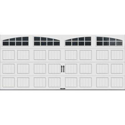 Gallery Collection 16 ft. x 7 ft. 18.4 R-Value Intellicore Insulated White Garage Door with Arch Window