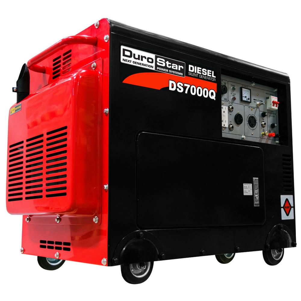 Durostar 5500-Watt Diesel Powered Remote Start Portable Generator