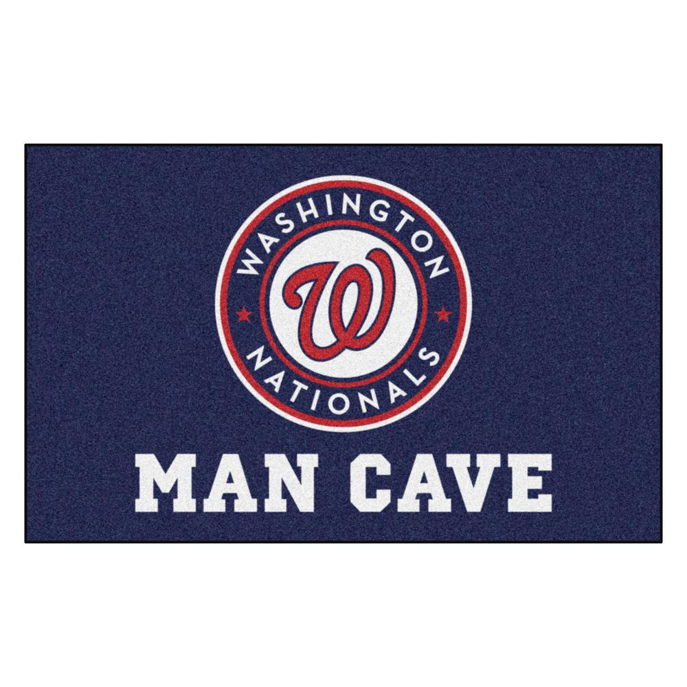 FANMATS MLB - Washington Nationals Man Cave UltiMat 5 ft. x 8 ft. Indoor Area Rug