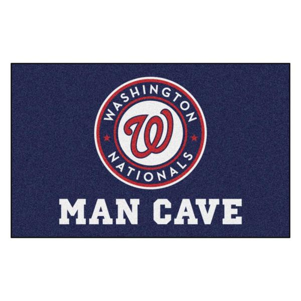 MLB - Washington Nationals Man Cave UltiMat 5 ft. x 8 ft. Indoor Area Rug
