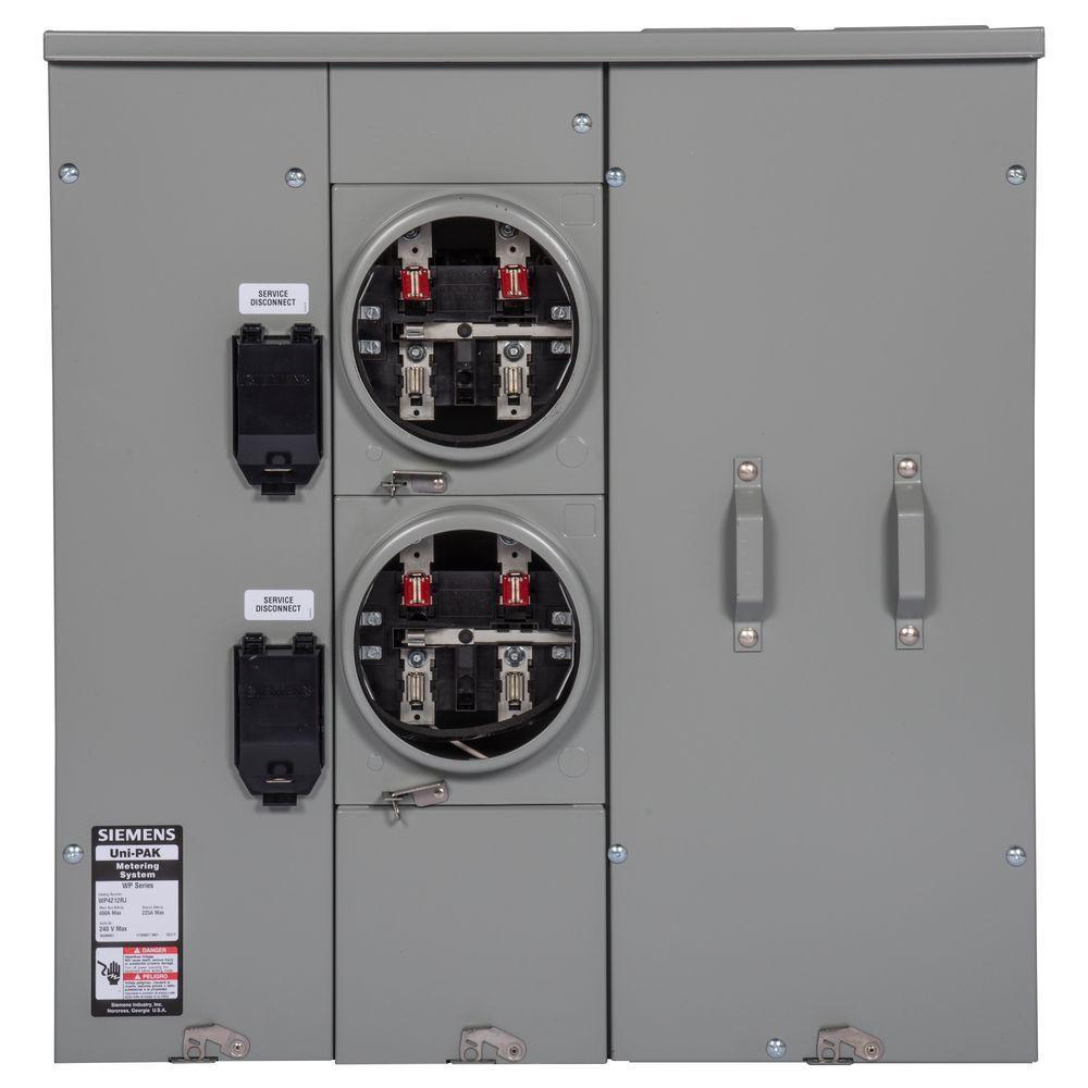Uni-PAK 2-Gang 225 Amp Tenant Main Breaker Meter Socket