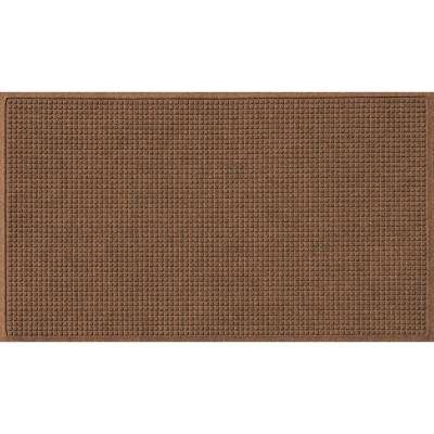 Dark Brown 36 in. x 84 in. Squares Polypropylene Door Mat