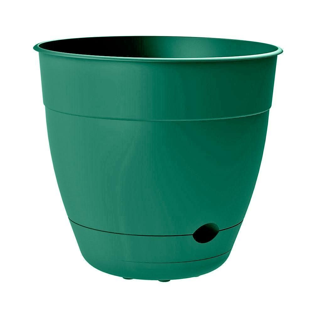 Dayton 6 in. Dia x 5.75 in. Tall Jungle Green Plastic Planter Pot