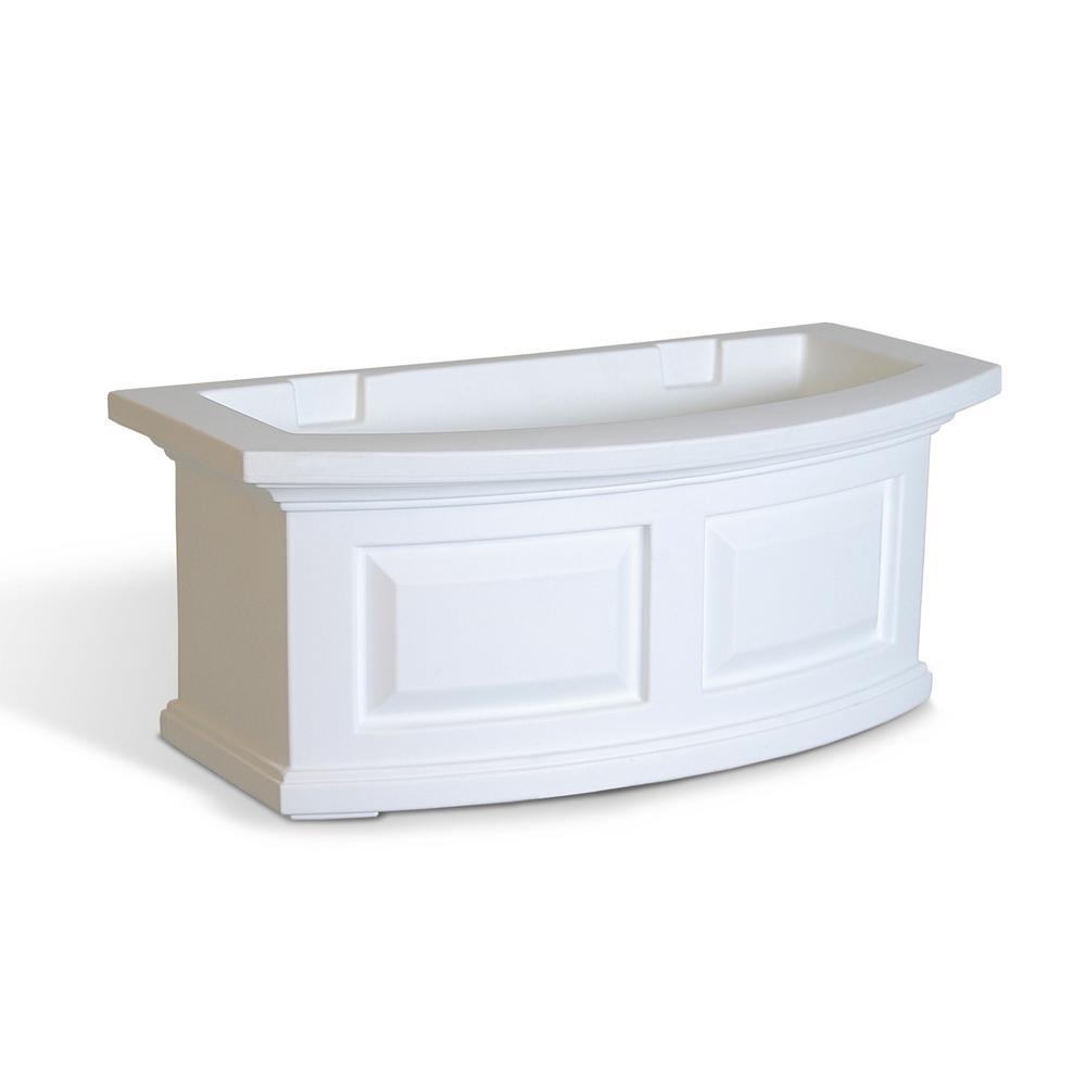24 in. x 11.5 in. White Plastic Window Box