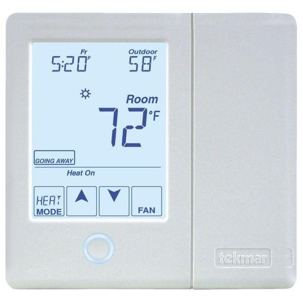 7-Day 2-Heat Pump/Cool Backup Humidity 2-Stage Programmable Thermostat for Radiant Flooring