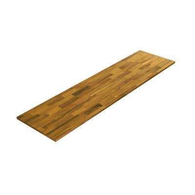 8 ft. L x 3 ft. 4 in. W x 1.5 in. T Butcher Block Countertop in Oiled Acacia with Light Oak Wood Oil Stain