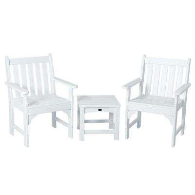 Vineyard White 3-Piece Patio Garden Chair Set