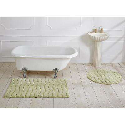 Indulgence Sage 30 in. Round Bath Rug