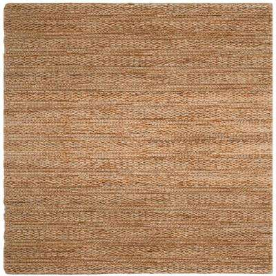 Natural Fiber Tan 6 ft. x 6 ft. Square Indoor Area Rug