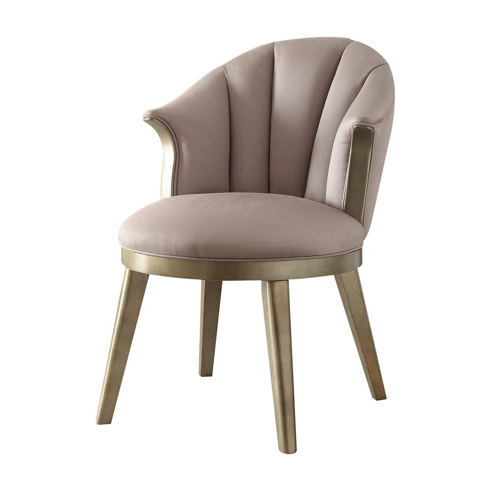 ACME Furniture Brecken Light Lavender Fabric And Champagne Gold Accent Chair