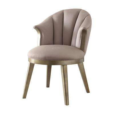 Brecken Light Lavender Fabric and Champagne Gold Accent Chair