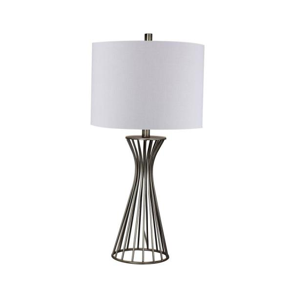 28.5 in. Champagne Gold Metal Table Lamp