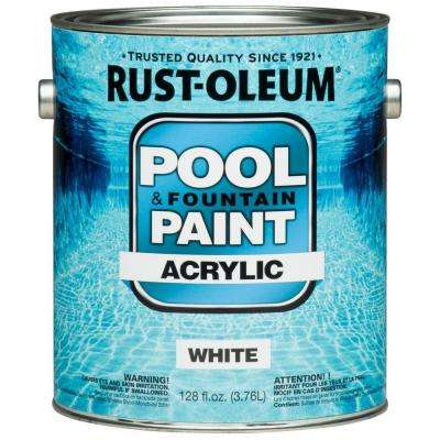 1 gal. White Acrylic Pool and Fountain Paint (Case of 2)