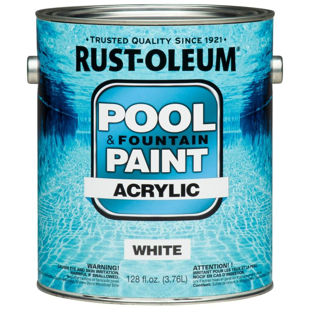 Rust Oleum 1 Gal White Acrylic Pool And Fountain Paint