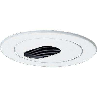 4 in. 12-Volt White Recessed Slotted Trim