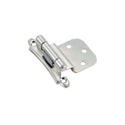 3/8 in. Inset Polished Chrome Self-Closing Face Mount Hinge
