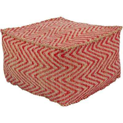 Lyzico Red Accent Pouf