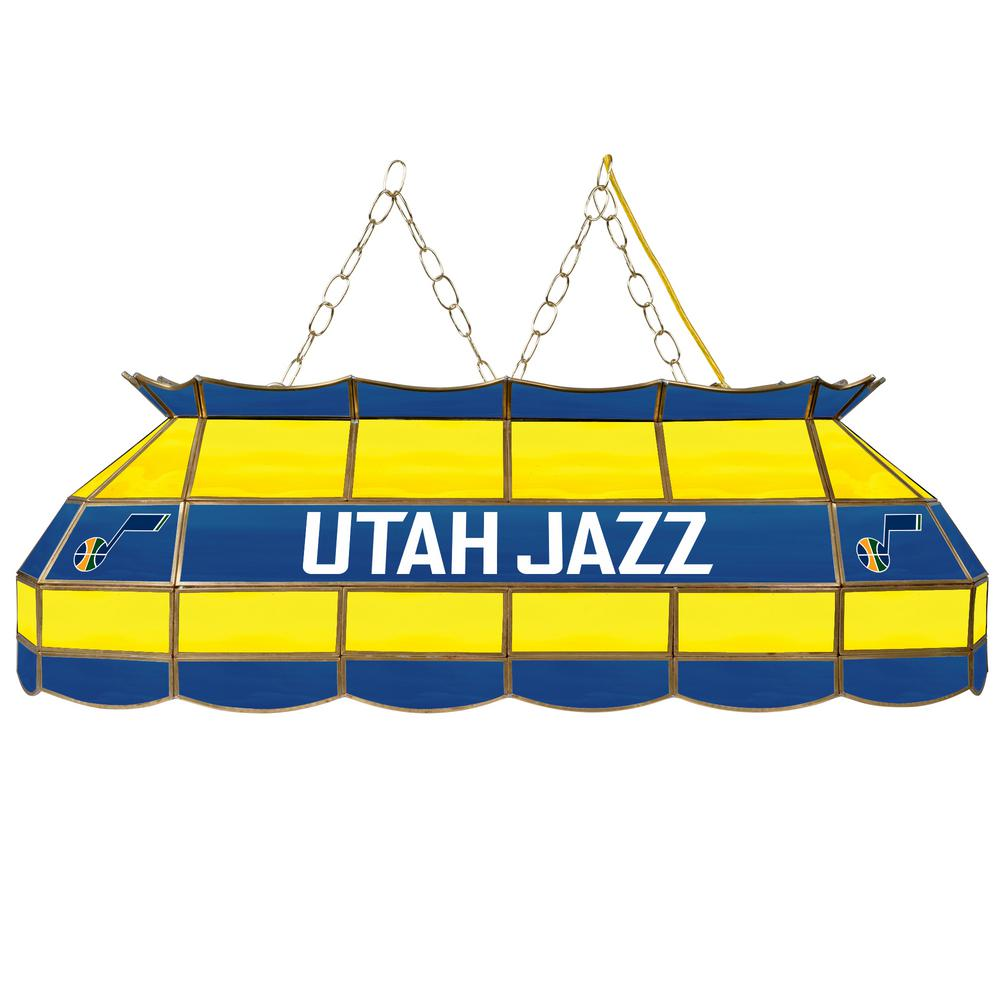 Trademark NBA Utah Jazz NBA 3-Light Stained Glass Hanging...