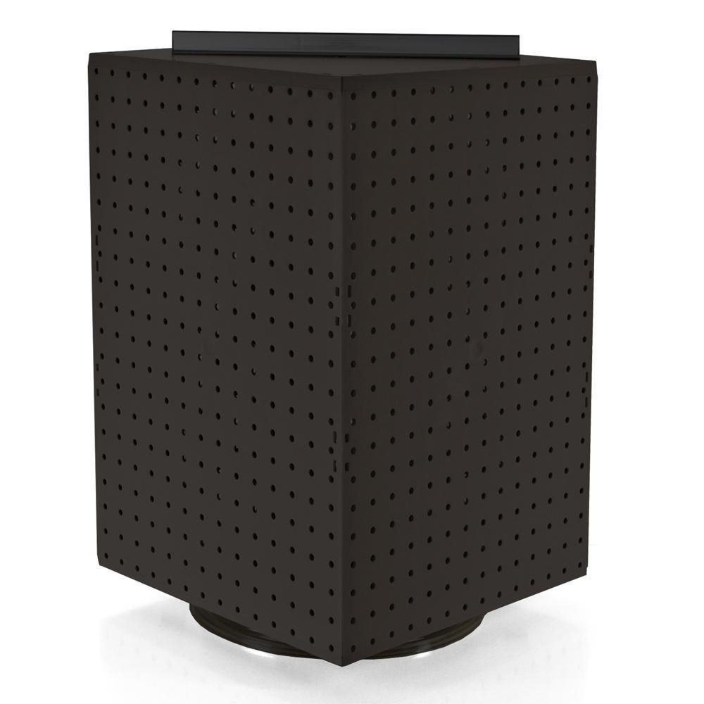 20 in. H x 14 in. W Interlock Pegboard Tower on a Revolving Base in Black