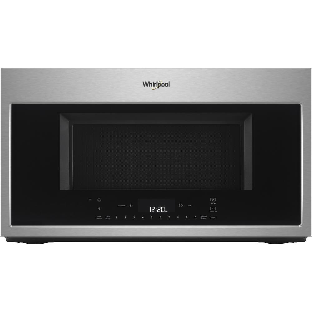 Whirlpool 1 9 Cu Ft Smart Over The Range Convection Microwave In Fingerprint Resistant Stainless Steel