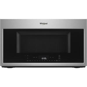 Whirlpool Smart 1.9-cu ft Over-the-Range Convection Microwave with Sensor Cooking (Stainless Steel)