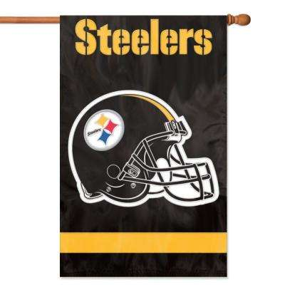 Pittsburgh Steelers Applique Banner Flag