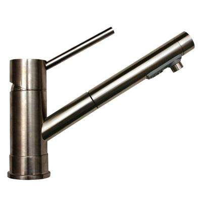 FX Navigator Single-Handle Pull-Out Sprayer Kitchen Faucet in Stainless Steel