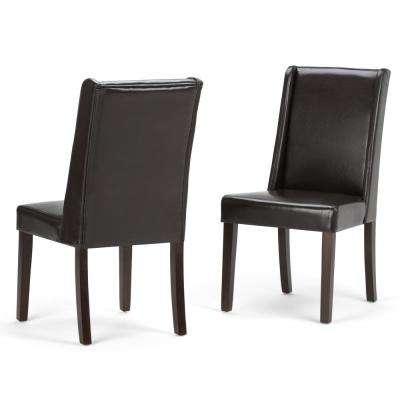 Sotherby Contemporary Deluxe Dining Chair (Set of 2) in Tanners Brown Faux Leather