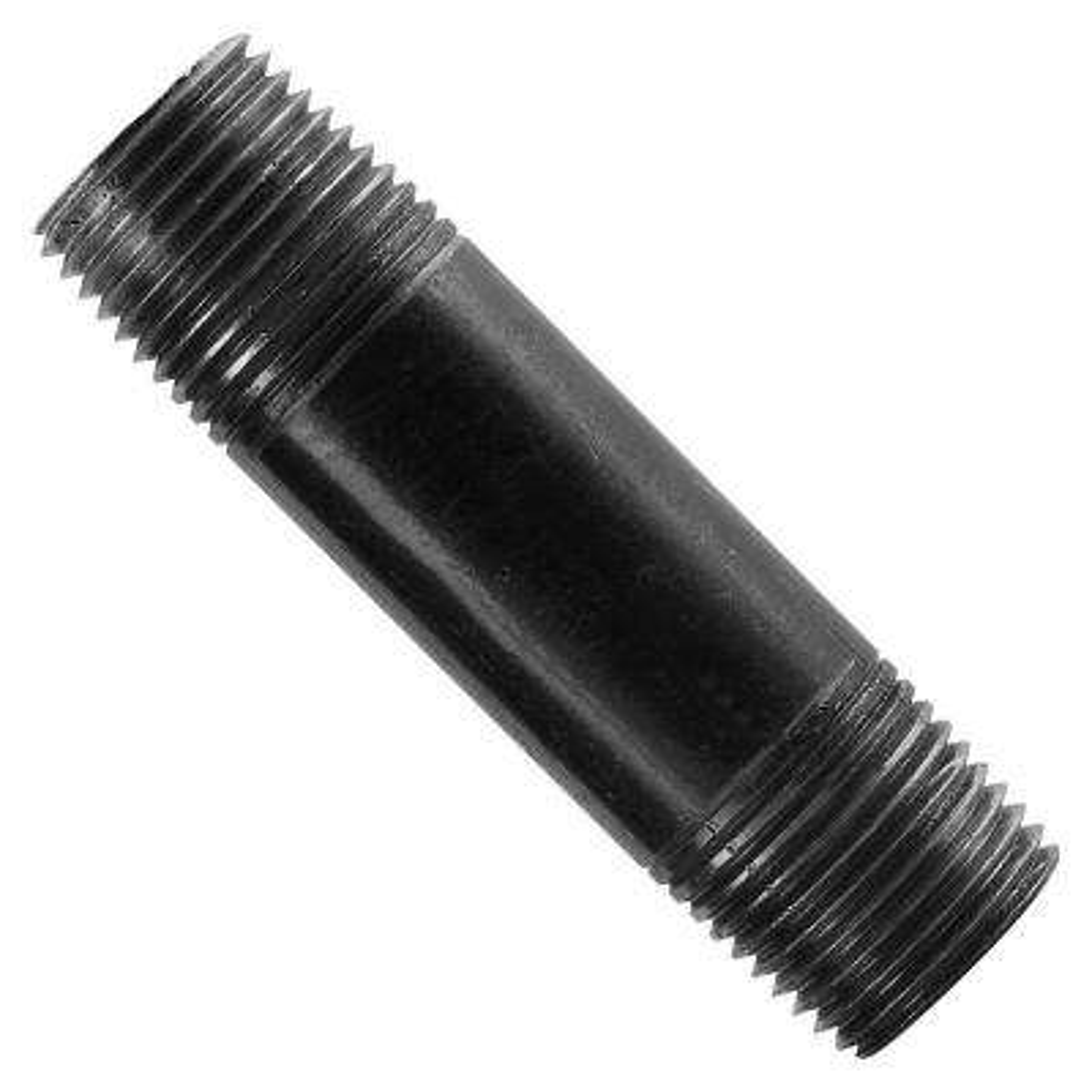 1 in. x 12 in. Black Steel Nipple