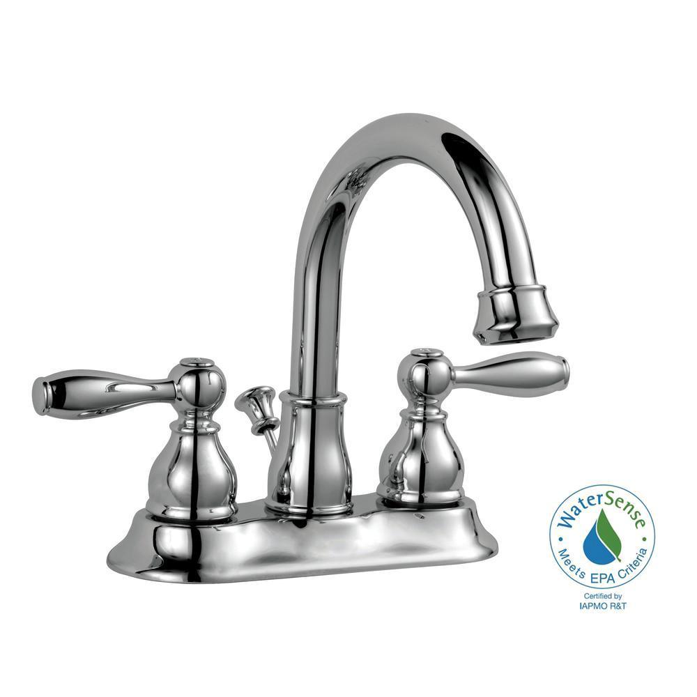 Mandouri 4 in. Centerset 2-Handle High-Arc Bathroom Faucet in Chrome