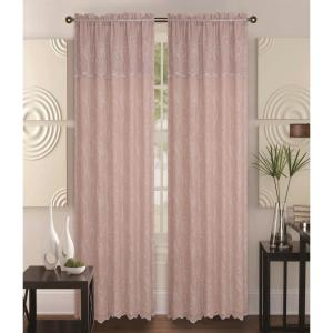 Kashi Home Selma 55 inch x 84 inch Curtain Panel in Taupe/Beige by Kashi Home