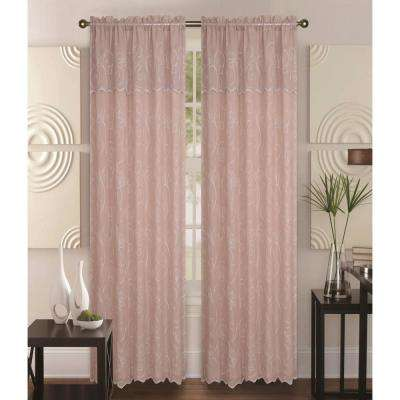 Selma 55 in. x 84 in. Curtain Panel in Taupe/Beige