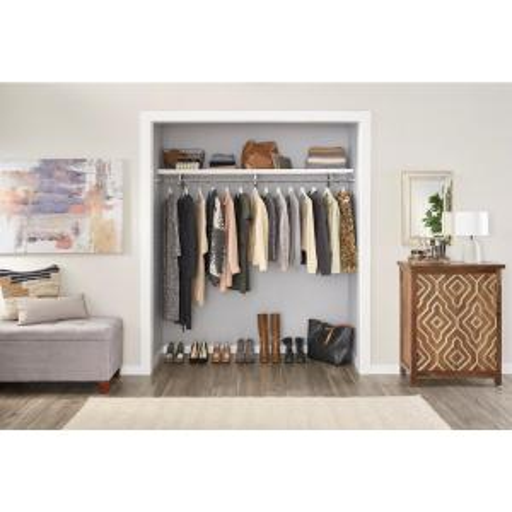 Ventilated White Wood Shelf Kit ClosetMaid