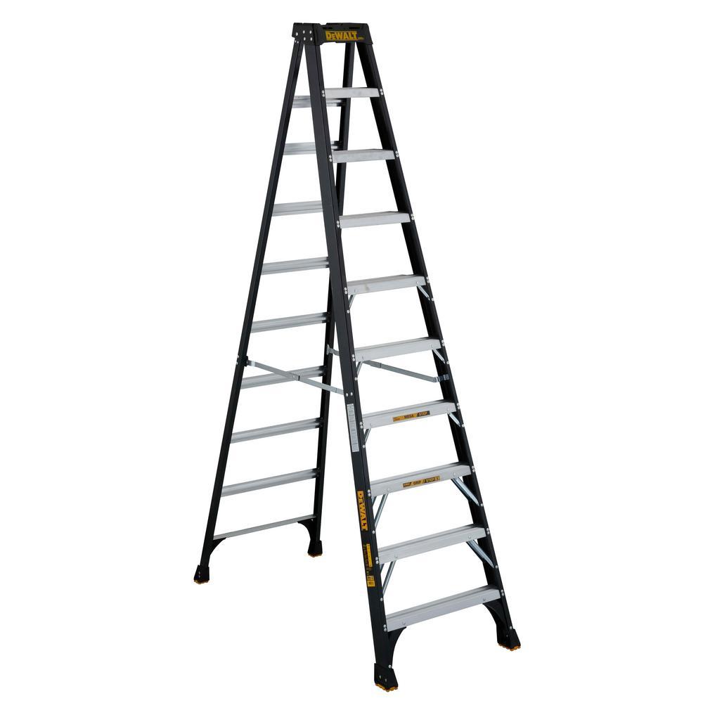 Awe Inspiring Werner 8 Ft Fiberglass Step Ladder With 300 Lb Load Uwap Interior Chair Design Uwaporg
