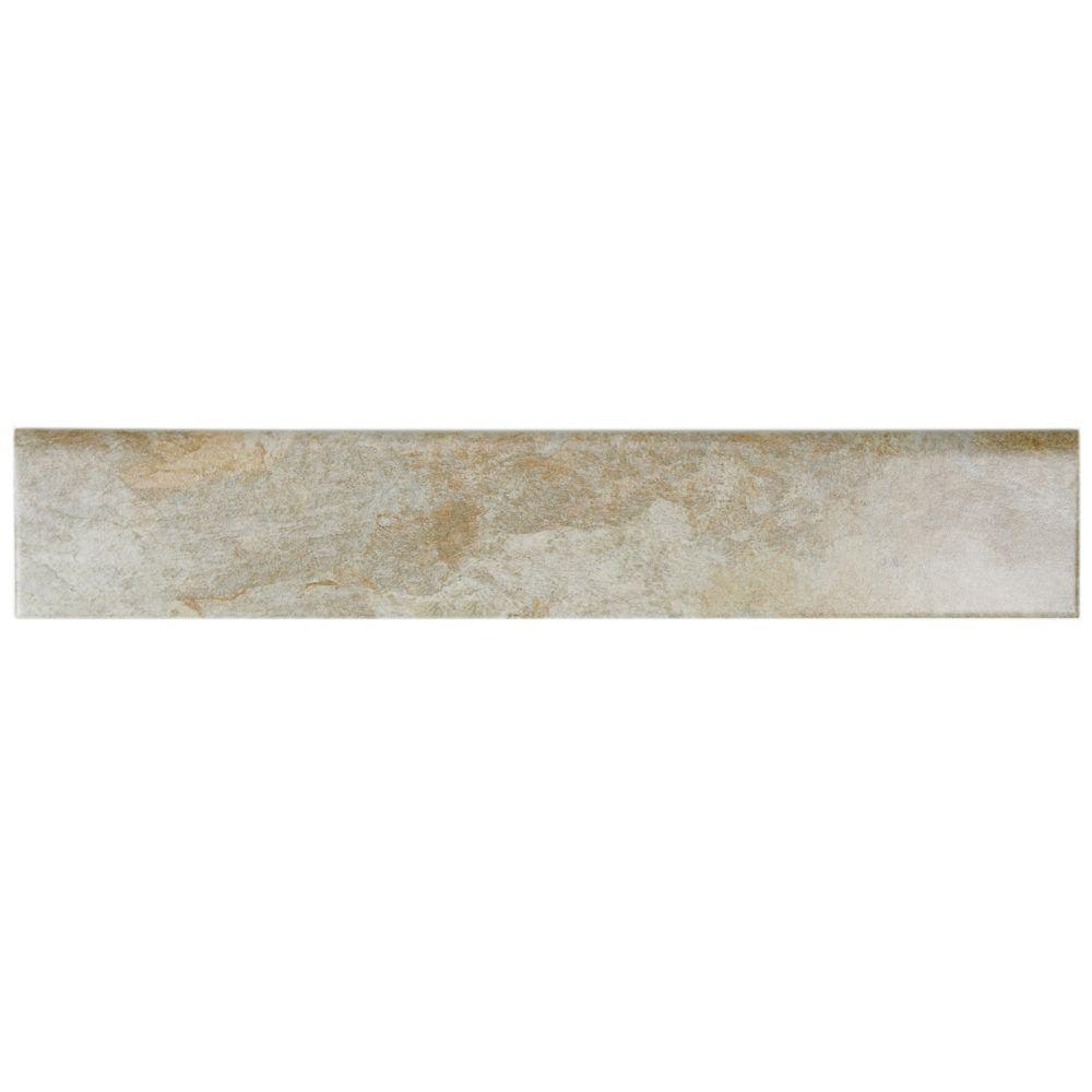 Ardesia Ocre 3-1/8 in. x 17-1/2 in. Porcelain Bullnose Floor and