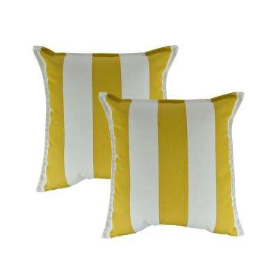 Cabana Citron 20 in. Outdoor Pillow (set of 2)