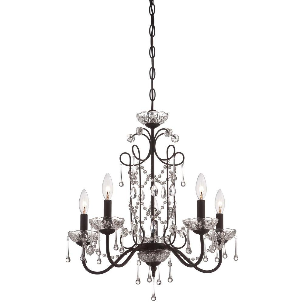 Minka lavery 5 light aged kinston bronze mini chandelier 3135 298 minka lavery 5 light aged kinston bronze mini chandelier 3135 298 the home depot arubaitofo Choice Image