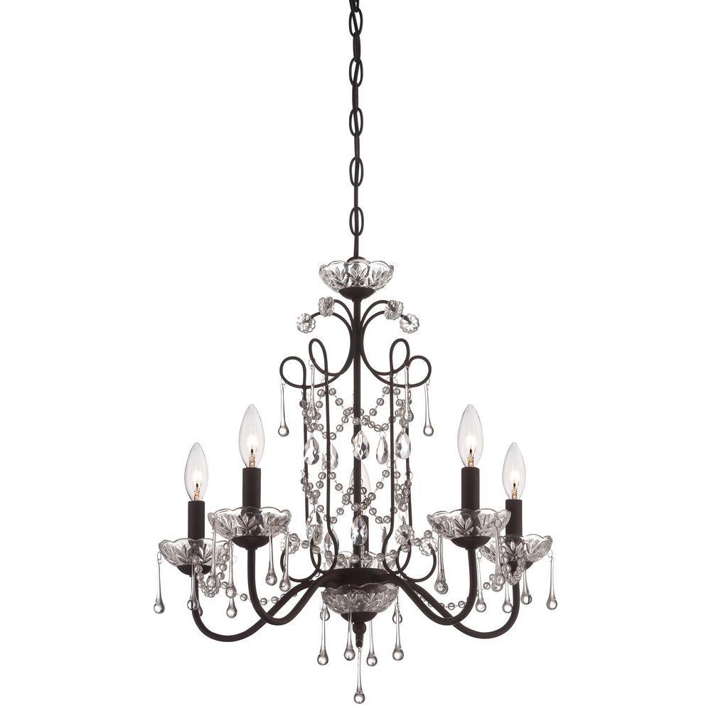 minka lavery 5 light aged kinston bronze mini chandelier 3135 298