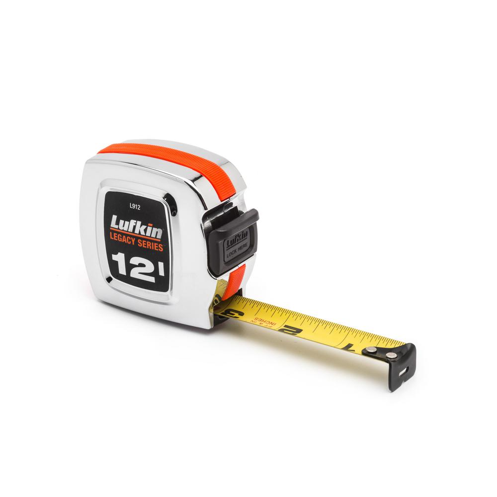 Lufkin Legacy Series 3/4 in. x 12 ft. Chrome Tape Measure