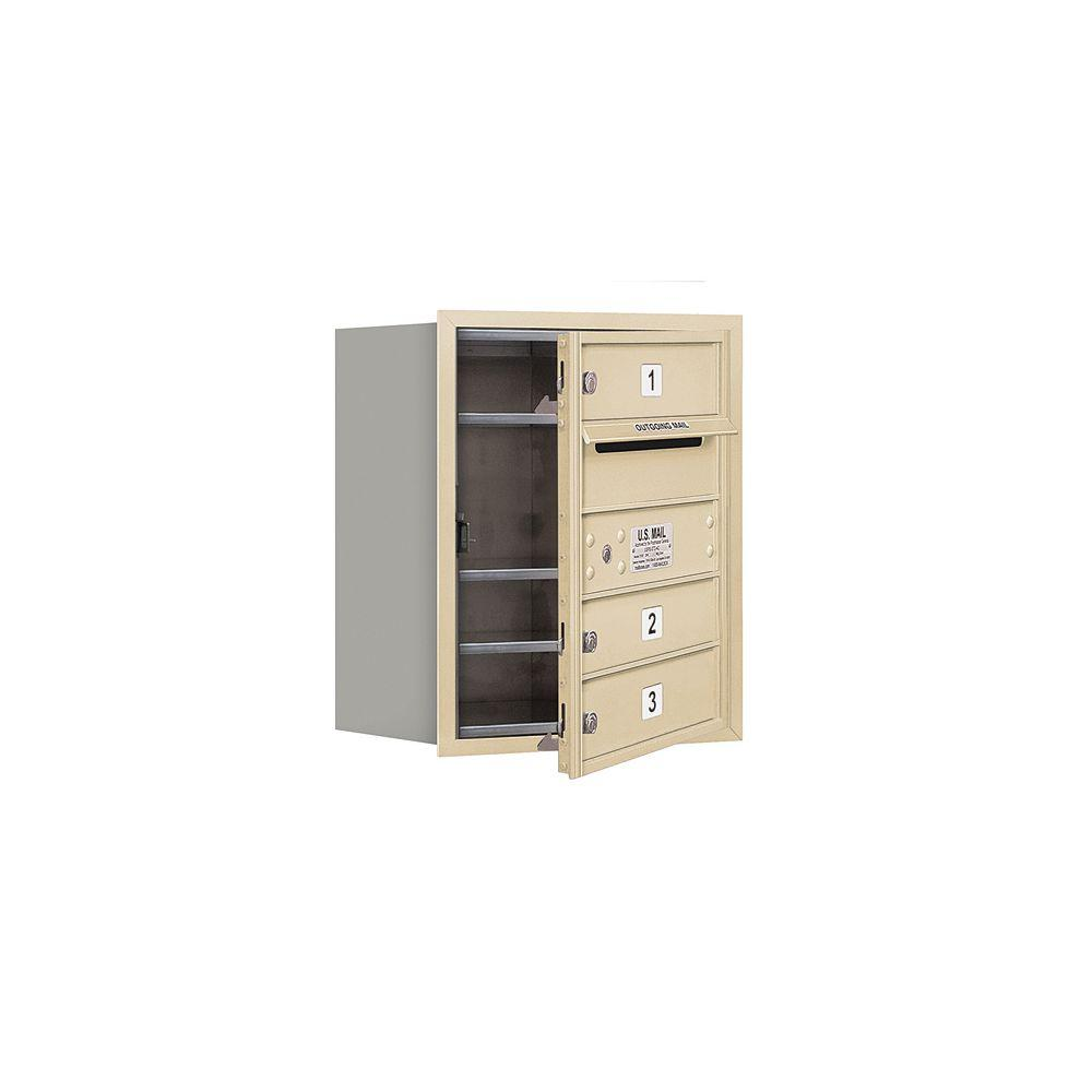 3700 Series 20 in. 5 Door High Unit Sandstone USPS Front