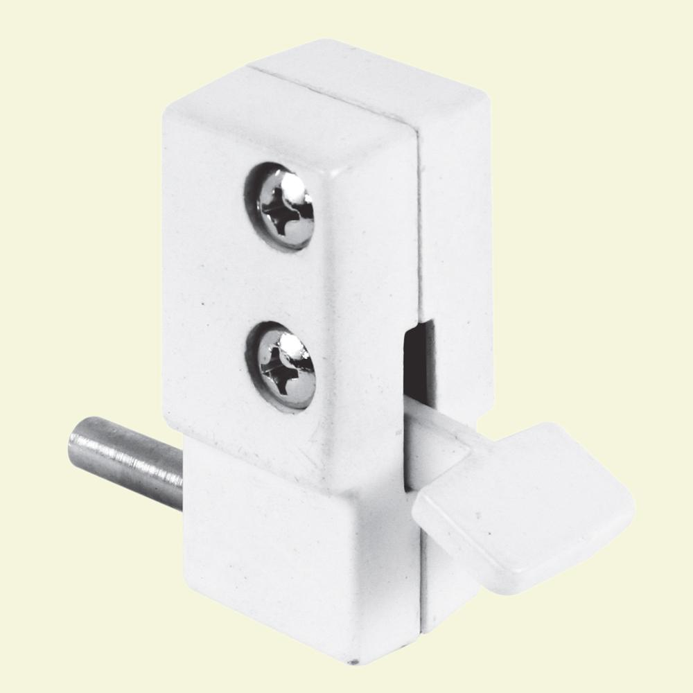 Patio White Step On Sliding Door Lock