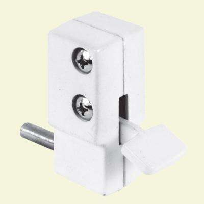Patio White Step-On Sliding Door Lock