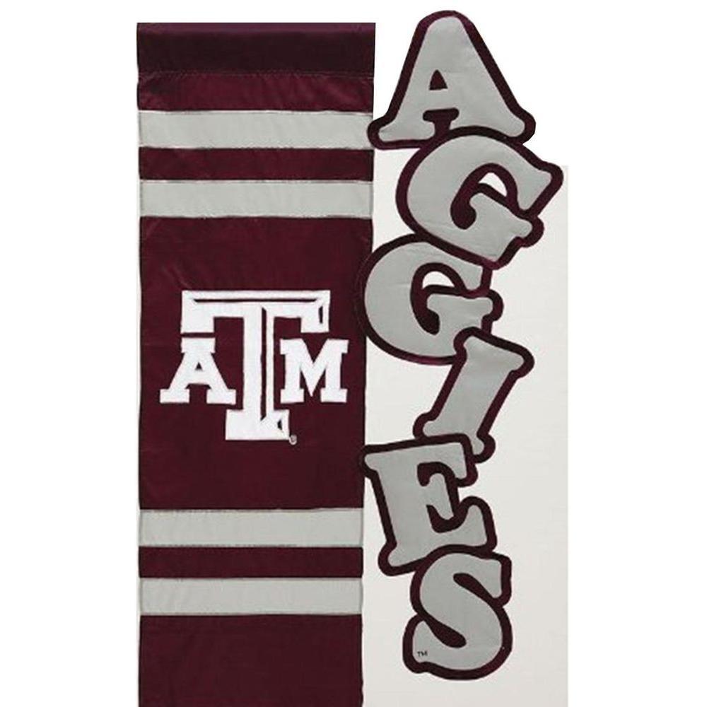 Evergreen Enterprises NCAA 12-1/2 in. x 18 in. Texas A&M Sculpted Garden Flag