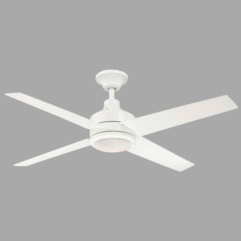 Hampton Bay Mercer 52 In Indoor White Ceiling Fan With Light Kit And Remote Control 14924 The