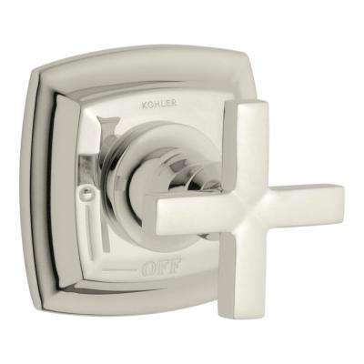 Margaux 1-Handle Volume Control Valve Trim Kit in Vibrant Polished Nickel with Cross Handle (Valve Not Included)
